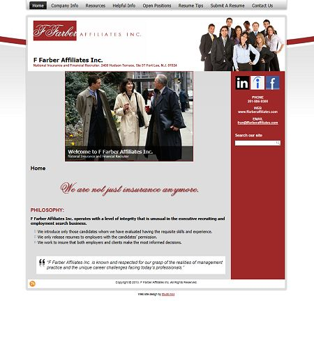 F Farber Affiliates, Inc., studio 544, web design, freelance web mn web designer