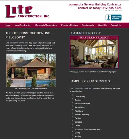 lite construction, dassel, mn, general contractor