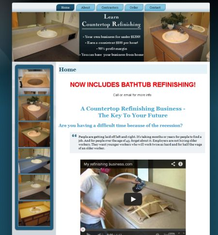 countertop refinishing business, seattle, wa,