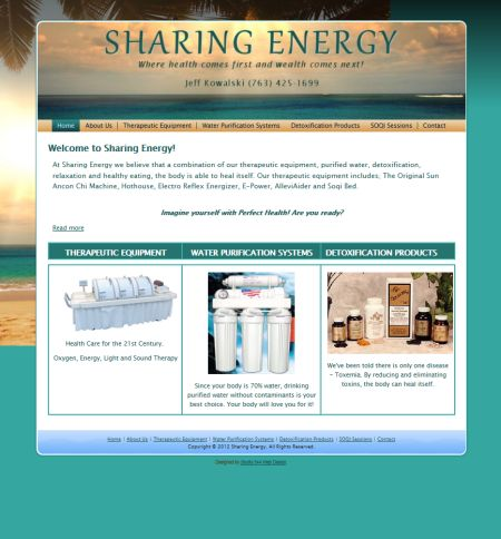 sharing energy, jeff kowalski, studio 544, web design