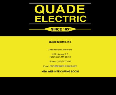 quade electric, hutchinson, mn, studio 544, web design, freelance web designers, minnesota, twin cities