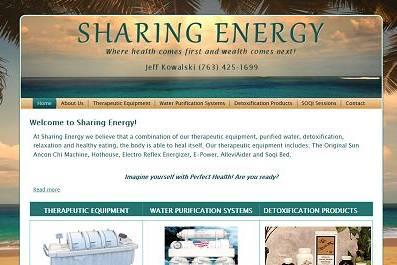 sharing energy, studio 544, freelance web designer, web design, hutchinson, mn