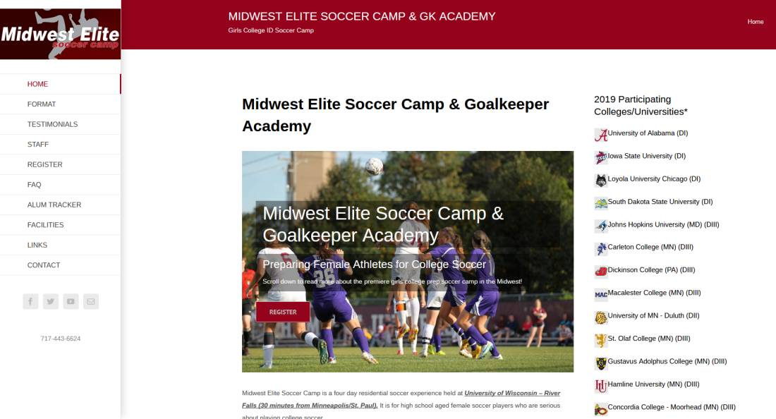 studio 544, mark lewandowski, freelance web designer, huchinson, mn, midwest elite soccer camp, hamline university, st. paul, ted zingman